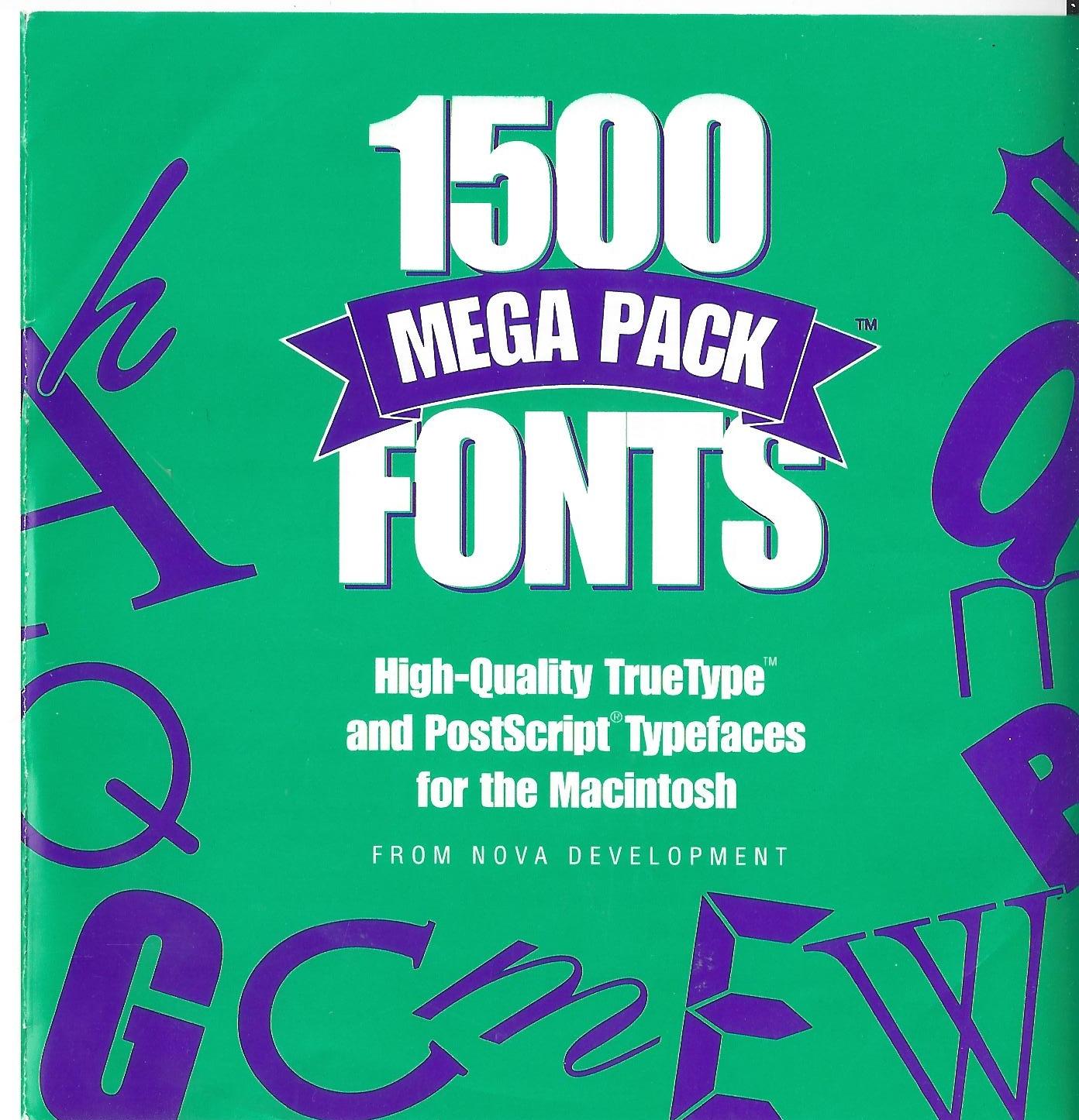 Download 1500 Mega Pack Fonts (1995) : Nova Development : Free ...
