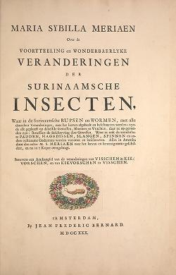 Cover of: Maria Sybilla Meriaen Over de voortteeling en wonderbaerlyke veranderingen der Surinaamsche insecten | Maria Sibylla Merian